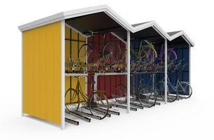 Piętrowe parkingi rowerowe